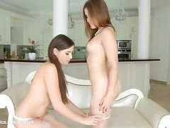 Morning Chill by Sapphic Erotica - lesbian love porn with Evalina Darling -
