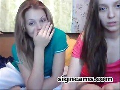Two cuties Webcam teasing