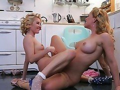 Two astonishing blondes are having an outstanding lesbian sex
